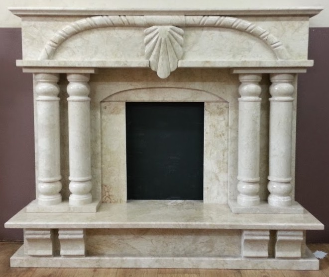 restored marble fireplace
