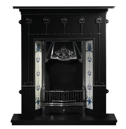 combination cast iron fireplace