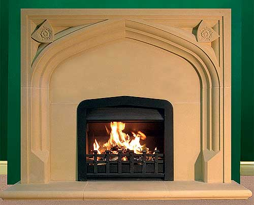 Stone fireplaces for Tudor fireplaces