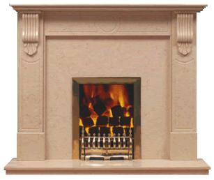 corbel marble fireplace