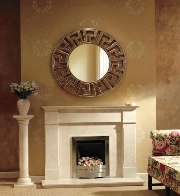 evita marble fireplace