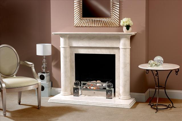 giovana marble fireplace