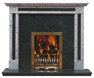 regency marble fireplace
