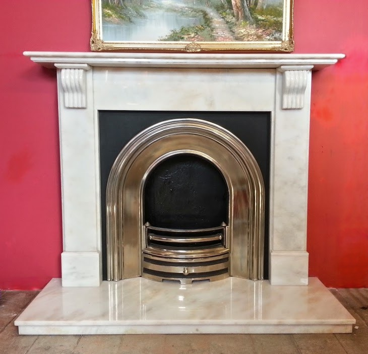 period marble fireplace
