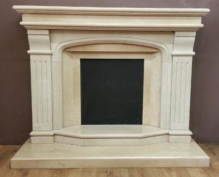 restored fireplace