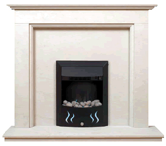 milano marble fireplace