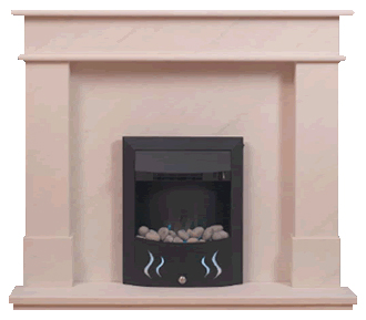 tolido marble fireplace