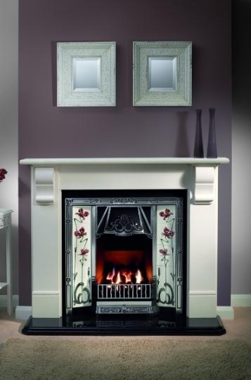 TILED CAST IRON FIREPLACES